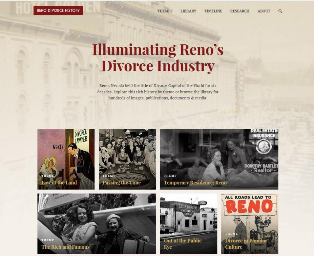 Reno Divorce History website